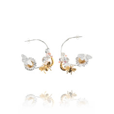 Amanda Coleman - country garden hoop earrings