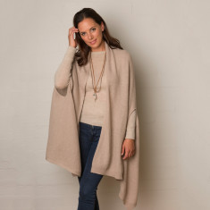 Lofty wool luxe cape ( various colours )