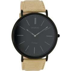 Vintage slimline matt black watch (sand or forest green)