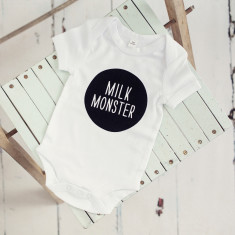 Milk monster baby onesie