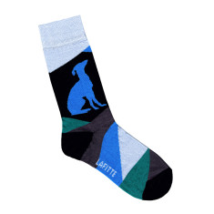 Lafitte black greyhound charity socks
