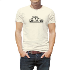 Surfing beetle organic t-shirt for men