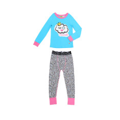 Winky Cloud Drop Crotch Pant Pyjama Set