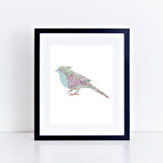 map bird limited edition fine art giclee print