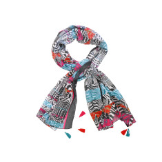 My Softest Cotton Scarf: Bold Block Print With Tassels