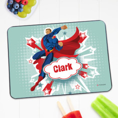 Superhero boy personalised placemat