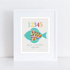 Fish 12345 art print