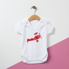 Personalised Retro Airplane Baby Bodysuit