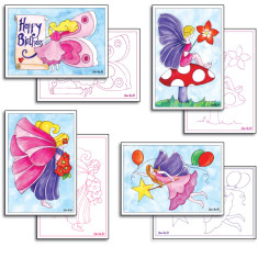 Fairy card making pack