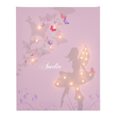 Personalised fairy illuminated canvas