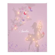 Personalised fairy illuminated canvas