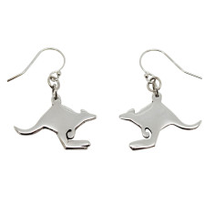 Kangaroo sterling silver earrings