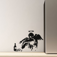 Banksy Fallen Angel wall sticker