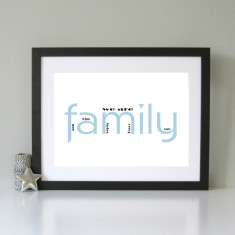 We are family personalised print