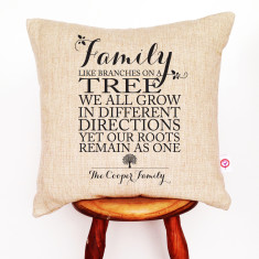 Family roots personalised cushion cover