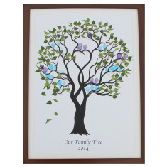 Framed family fingerprint tree