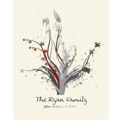 Classic family tree personalised print