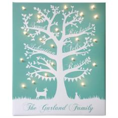 Family tree illuminated canvas