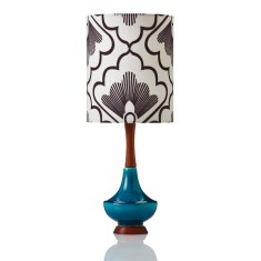 Small Electra table lamp in fan coal