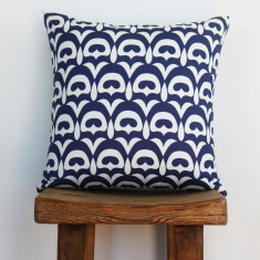 Boheme fandang navy cushion