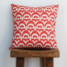 Boheme fandang salmon cushion