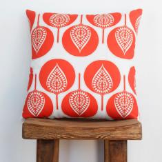 Boheme fantail coral cushion