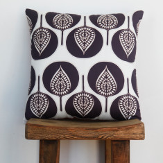 Boheme fantail grape cushion