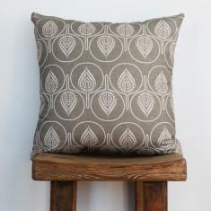 Boheme fantail linen cushion
