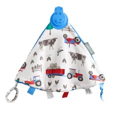 Comfortchew teething comforter in Farmer Joules print