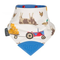 Neckerchew dribble bib in Farmer Joules print