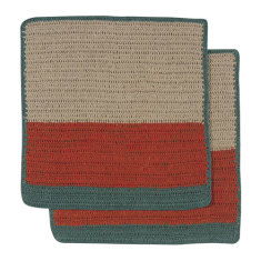 Sasha crochet dishcloth in autumn (set of 2)