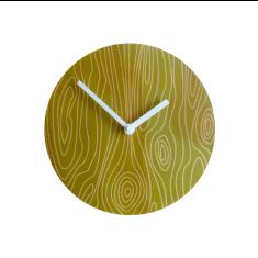 Objectify faux bois 2 wall clock