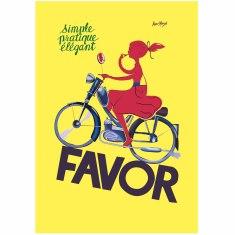 Favor Simple, Pratique, Elegant vintage poster print by Bellenger