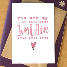 My favourite baldie card