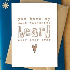 My favourite beard card