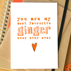 My favourite ginger card