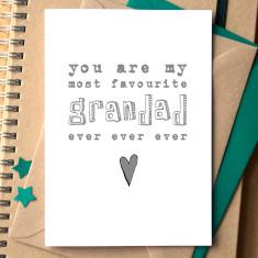 My favourite grandad card