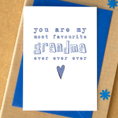 My favourite grandma card