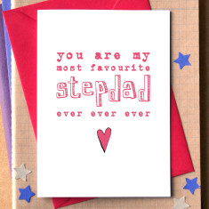 My favourite stepdad card