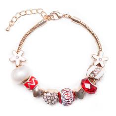 Womens Christmas charm bracelet