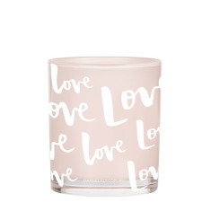 Love Print Candle