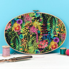 Tropical Liberty Print Embroidery Hoop Artwork