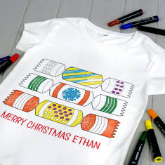 Personalised Colour Your Own Christmas Cracker Kit
