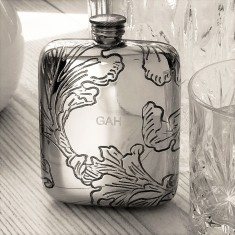 Bride's Leaf Hip Flask