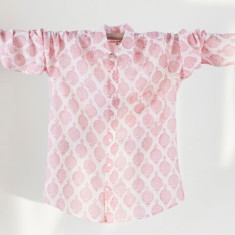 Men's shirt in jaipur pink