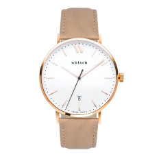 Versa 40 Watch In Rose Gold with Latte Band