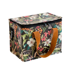 Insulated Lunch Box bag in Hibiscus print