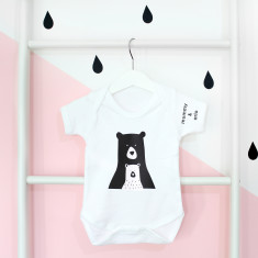 Daddy/Mummy And Me, Personalised Bear Onesie or T-shirt