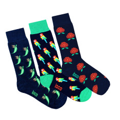 Loco navy novelty socks (3 Pack)