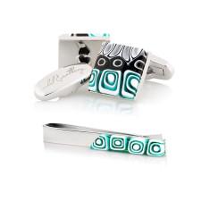 Mosaico Gift Set - Cufflinks + Tie Bar